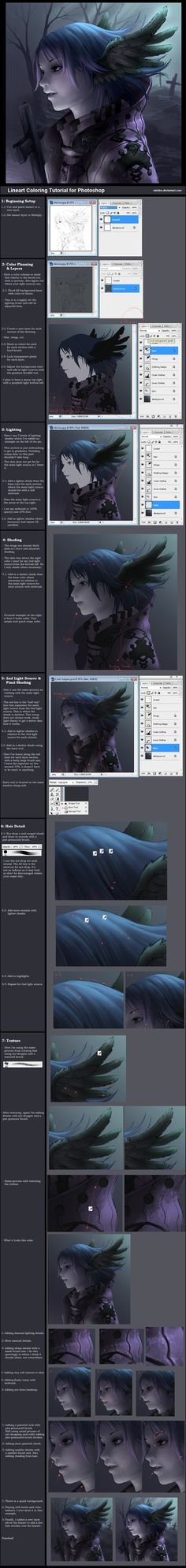 Tutorial: Lineart Coloring by ~minties on deviantART