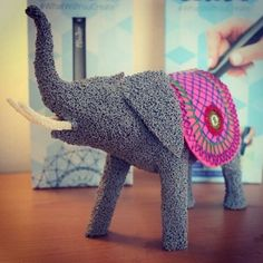Do you know any artists that create 3D work using either sewing or printing?