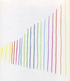 Waldorf ~ 5th grade ~ Form Drawing ~ Freehand Geometry ~ #7 Draw vertical lines that get longer (parallel lines) ~ main lesson book