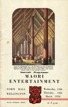 Barraud, Charles Decimus, :[Interior of Otake Church. New Zealand Art, New Zealand Travel, Maori Designs, Maori Art, Place Of Worship, Abstract Landscape, Vintage Posters, Entertaining, Moana