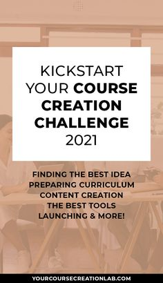 Kickstart Your Course Creation Challenge 2021 will help you to create an online course with ease, including but not limited to: finding the best course idea, preparing course curriculum, creating an amazing content, choosing the best course creation tools, preparing for a successful course launch and more! #coursecreation #passiveincome #digitalcourse #onlinecourse #mompreneur