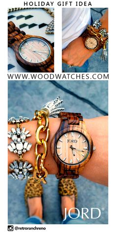 The perfect unique gift idea for that special someone.   Fieldcrest Series: Zebrawood and Maple - $120 USD  by: JORD Wood Watches.