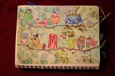 SPLAT PAINT - ART Journaling: Whimsical Birds and Owls