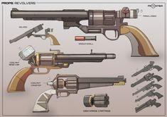 ArtStation - Space Cowboy Guns, Lloyd Drake-Brockman