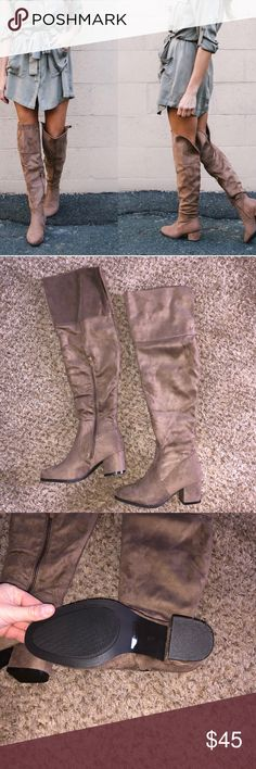 Vici doll knee high boots - never worn! Super cute size 6.5 Vici doll Knee high boots! Never worn! vicidoll Shoes Over the Knee Boots