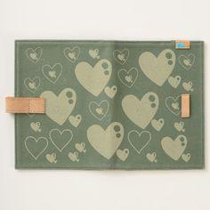 Multi-heart pattern canvas journal