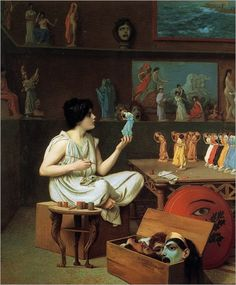 painting breathes life into sculpture, Jean-Leon Gerome. 1893