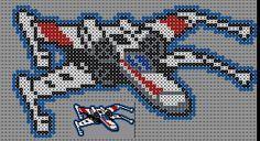 X-Wing Starfighter - Star Wars Perler Bead Pattern by Sebastien Herpin