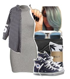 """""""1287"""" by ashley-mundoe ❤ liked on Polyvore featuring Christian Dior, Vlieger & Vandam, HUF and Converse"""