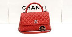 """กระเป๋า Chanel Coco 10.5"""" Red Caviar RHW 17C สีแดงสด พร้อมส่งค่ะ‼️ - Iris Shop"""