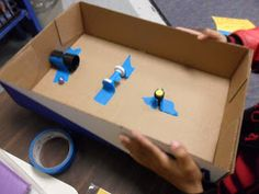 There were several empty paper ream boxes in the copy room at school this morning--a perfect time to make desk drawers (a later post) and th...