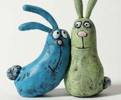 love bunnies custom cake toppers