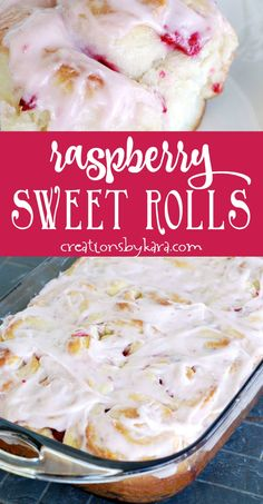 Raspberry Sweet Rolls with raspberry frosting. A nice change from regular cinnamon rolls. Raspberry Roll Recipe, Raspberry Bread, Raspberry Frosting, Bread Machine Recipes, Easy Bread Recipes, Sweet Recipes, Delicious Donuts, Yummy Food, Sweet Breakfast
