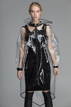 Transparent PVC raincoat waterproof long rain jacket clear | Etsy