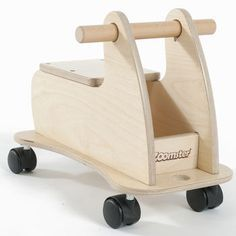 Sturdy Natural Wooden Ride On Toy