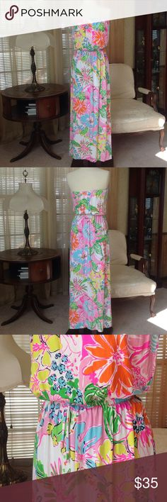 """Lilly Pulitzer for target maxi dress Never worn. Tag says its size medium but fits like small so I describe this as small. It is 50"""" long measuring on the mannequin (the way it's put on).                    .                          h Lilly Pulitzer for Target Dresses Maxi"""