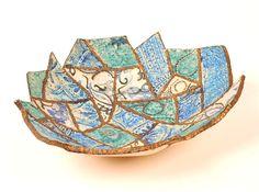 patchwork stoneware bowl by sheron king www.madhattersstudio.com
