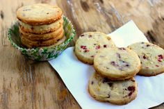 Cranberry Orange Almond Shortbread Cookies. Roll this dough into a 'tube', freeze it to take out later, cut, bake and eat freshly-made cookies on a moment's notice.