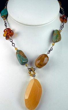 Found diy jewelry cleaner baking soda xo diy jewelry pinterest vintage silpada gemstone chunky lavaliere pendant necklace amber turquoise aloadofball Images