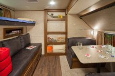Open Range has created a new level of function with this ultra light travel trailer.  The 308BHS Light is a rear bunkroom - Yes, we said bunkroom. The 308BHS has tons of space and options for a family or large groups.