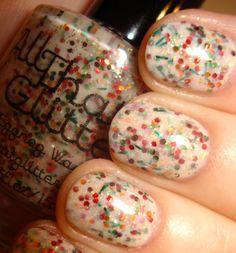 "@Khalei Fogle's  blog ""Keep Your Nail Game Fresh"": All That Glitters Eggnog Wasted-- YUM."