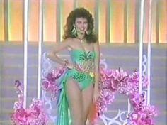 Miss Trujillo, Barbara Palacios en su presentacion en traje de Baño, la Noche Final del Miss Venezuela 1986, desde el Teatro Municipal de Caracas..