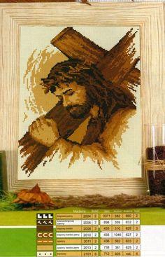 ИИСУС С КРЕСТОМ - ИКОНЫ - СХЕМЫ ВЫШИВКИ КРЕСТИКОМ - Каталог файлов - ХОББИ