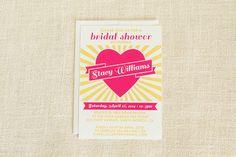 Vintage Bridal Shower Invitation by FMCstudio