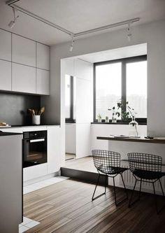 So modern minimalist home design idea Minimalist Home Decor, Minimalist Kitchen, Minimalist Design, Minimalist Style, Modern Kitchen Design, Interior Design Kitchen, Style At Home, Küchen Design, House Design