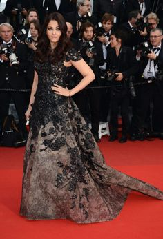 Aishwarya Rai at the Inside Llewyn Davis Premiere during the 66th Annual Cannes Film Festival at Grand Theatre Lumiere on May 19, 2013 in Cannes, France.
