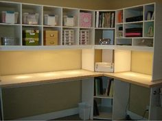 Scrapbook Desk  or sewing nook, I think my mom would love this.