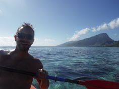 Kayaking in Tahiti.