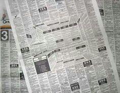 Creative news ad that looks 3D
