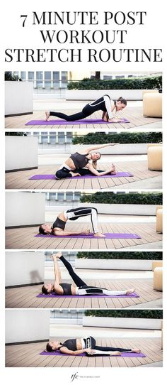 7 Minute Post-Workout Stretch Routing   Stretching Routine   Yoga Poses   Yoga For Beginners   Morning Yoga  