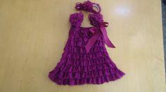 Plum colored Lace Petti Dress with matching plum by TheRuffledbum