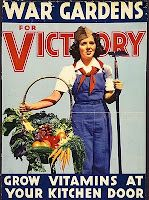War Gardens ad- we should totally go back to rationing and victory gardens everytime we go to war, that way we have a constant reminder that our men and women are fighting for us.