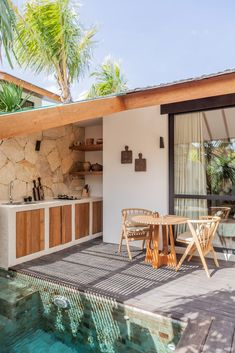 Patio Interior, Interior And Exterior, Interior Design, Outdoor Spaces, Outdoor Living, Outdoor Decor, Bali Style Home, Bungalow, Casa Patio