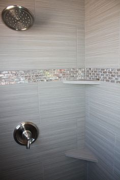 Tile design in master bathroom shower