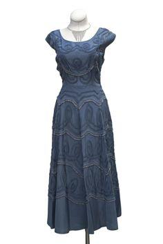 Cabaret Vintage - 1950s Ribbon Detail Dress, $125.00 (http://www.cabaretvintage.com/new-arrivals/1950s-ribbon-detail-dress/)