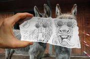 Creative Pencil vs Camera artworks by Ben Heine