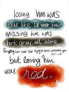 Taylor Swift, Red, Lyrics