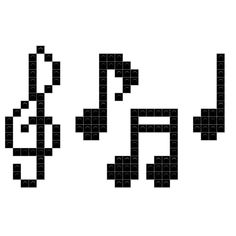 Lace Knitting Patterns, Embroidery Patterns, Stitch Patterns, Cross Stitch Music, Cross Stitch Letters, Music Note Logo, Music Notes, Perler Bead Art, Perler Beads