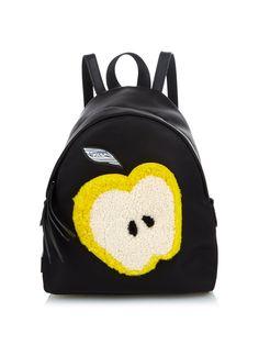 Apple shearling and nylon mini backpack | Fendi | MATCHESFASHION.COM UK