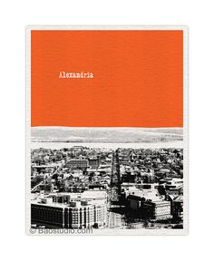 Alexandria Virginia VA King Street City Skyline Art Print - 8x10 World Traveler Series Poster - Available in 40 Colors - UVA027
