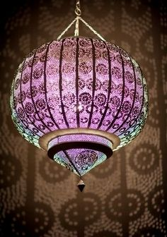 Moroccan Lantern: gorgeous colours...