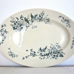 Antique French Serving Plate
