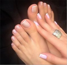Only sexy feet Cute Toes, Pretty Toes, Pretty Nails, French Pedicure, Manicure And Pedicure, French Toe Nails, Mani Pedi, French Tip Toes, Uñas Fashion