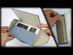 Great video tutorial for making a handmade, cloth and hardboard portfolio