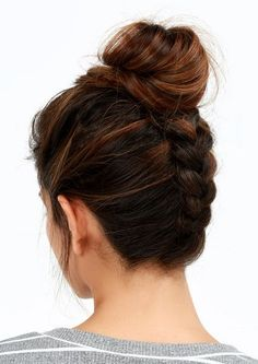 We Found the 21 Best Lazy Girl Hairstyles on Pinterest, So You Don't Have To | Reverse Braided Bun