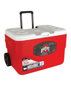 Look what I found on #zulily! Ohio State Buckeyes Wheeled 50-Qt. Cooler by Coleman #zulilyfinds